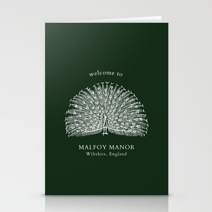Malfoy manor Stationery Cards