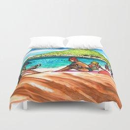 beach vibes haad rin beac thailand Duvet Cover