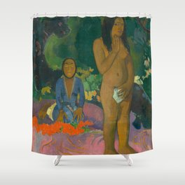 Classic Art - Words of the Devil - Parau na te Varua ino Shower Curtain