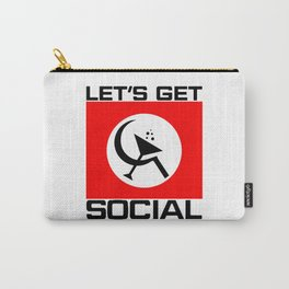 Let's Get Social Carry-All Pouch