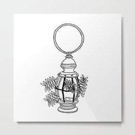 Lamp & Leaflets Metal Print