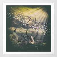 alone Art Prints featuring Alone... by flamenco72