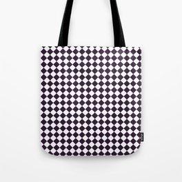 Small Diamonds - White and Dark Purple Tote Bag