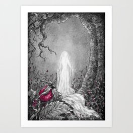 The lady of winter Art Print