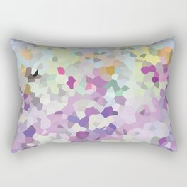 Multi mint and violet crystalized  Rectangular Pillow