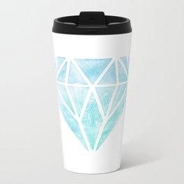 Diamond watercolour Metal Travel Mug