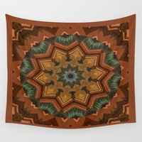 ginger Wall Tapestries featuring Ginger Tale by LEEMARIE
