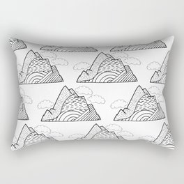 The small clouds and the mountains pattern Rectangular Pillow