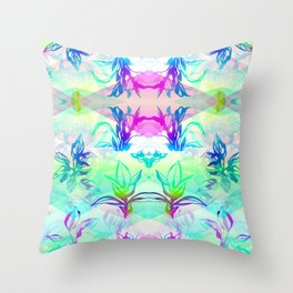 'Cosmic Foliage' Illustration by Hannah Stouffer Throw Pillow