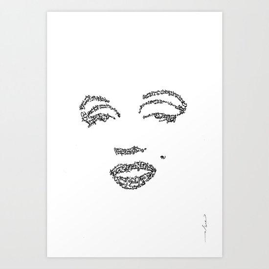 Marilyn Monroe WordsPortrait Art Print