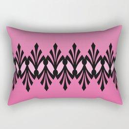 Art Deco Passionate Rose Pink Pattern Rectangular Pillow