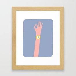 Cool Hand Illustration Framed Art Print