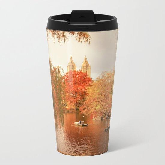 Central Park New York City Autumn Metal Travel Mug