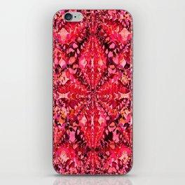 Red Caleidoscope iPhone Skin
