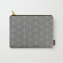 STAMEN popular taupe pattern with beige linear triangles Carry-All Pouch