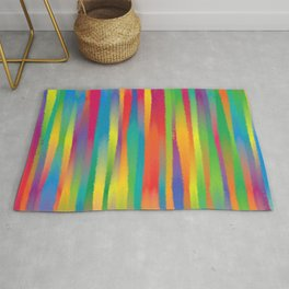 Paint Yourself In Stripe Rug
