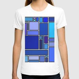 50 shades of blue T-shirt