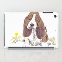 the hound iPad Cases featuring Basset Hound by jo clark