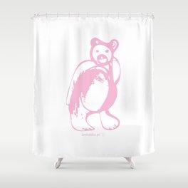 Pink bear Shower Curtain
