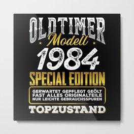 Classic car modell 1984 Metal Print