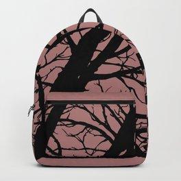Dark Pink Tree Backpack