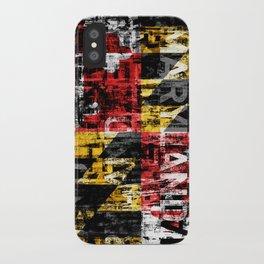 Maryland Flag Print iPhone Case