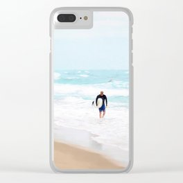 Surfer Defeat Clear iPhone Case