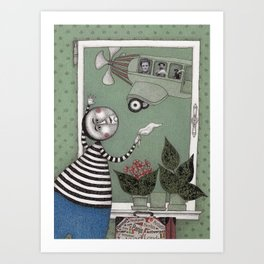 A Day for Looking out of the Window Art Print