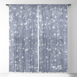 starry night Sheer Curtain