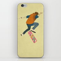 marty mcfly iPhone & iPod Skins featuring McFly by Danny Haas