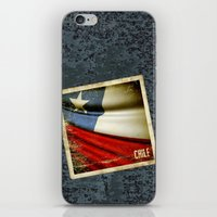 chile iPhone & iPod Skins featuring Chile grunge sticker flag by Lulla