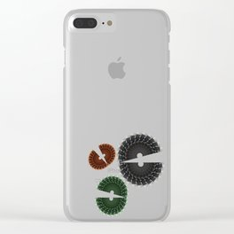 Abstract Chomp Clear iPhone Case