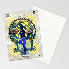 "Ars Tarot of the 12 Zodiac: ""Aquarius - The Star"" Stationery Cards"