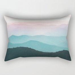 Smoky Mountain National Park Sunset Layers III - Nature Photography Rectangular Pillow