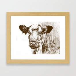 Ardnamurchan Coo - Brown Framed Art Print
