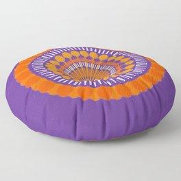 Rough Orange Mandala Floor Pillow