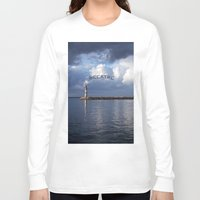 breathe Long Sleeve T-shirts featuring breathe by gzm_guvenc