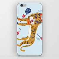 tiger iPhone & iPod Skins featuring tiger by echo3005
