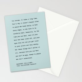 Velveteen Rabbit Quote You become Stationery Cards