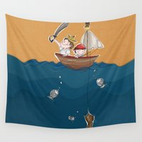 boys Wall Tapestries featuring Boys Adventures by Garatujas