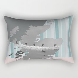 Scotland, the land of the mountains multi-coloured Rectangular Pillow