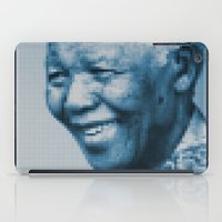 mandela iPad Cases featuring Nelson Mandela by DGTLBNG