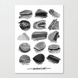 Sandwiches Canvas Print