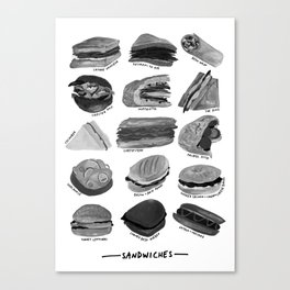 Sandwiches Canvas Print