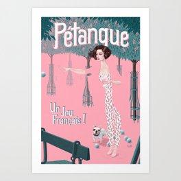 Pétanque Art Print