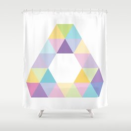 Fig. 013 Colorful Triangle Shower Curtain