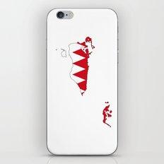 bahrain flag map iPhone & iPod Skin