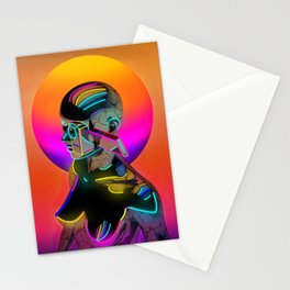 Android with a movie camera Stationery Cards
