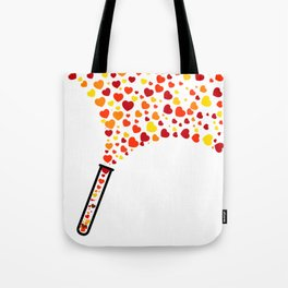 Chic Preppy Chic Test Tube Hearts Tote Bag