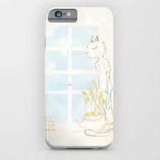 Cat Smelling Flower iPhone 6s Slim Case
